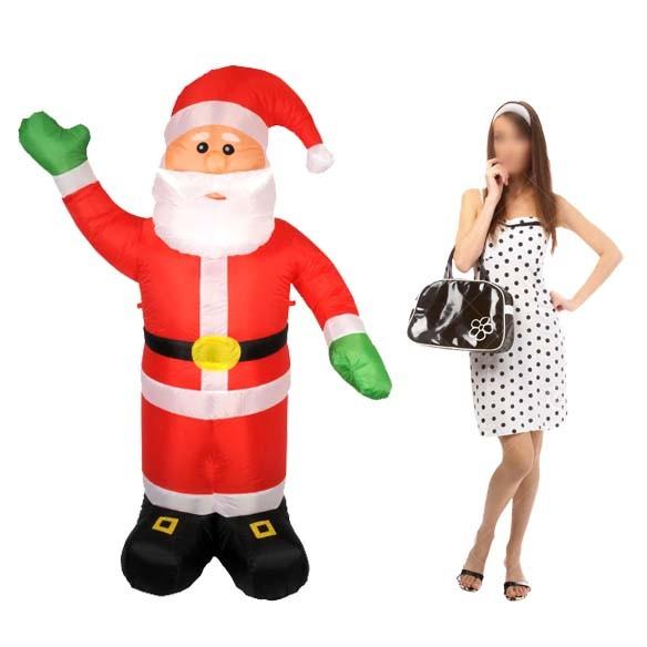 Papai Noel Inflavel Grande Para Decoracao De Natal Natalino Enfeite (BSL-36041-25)
