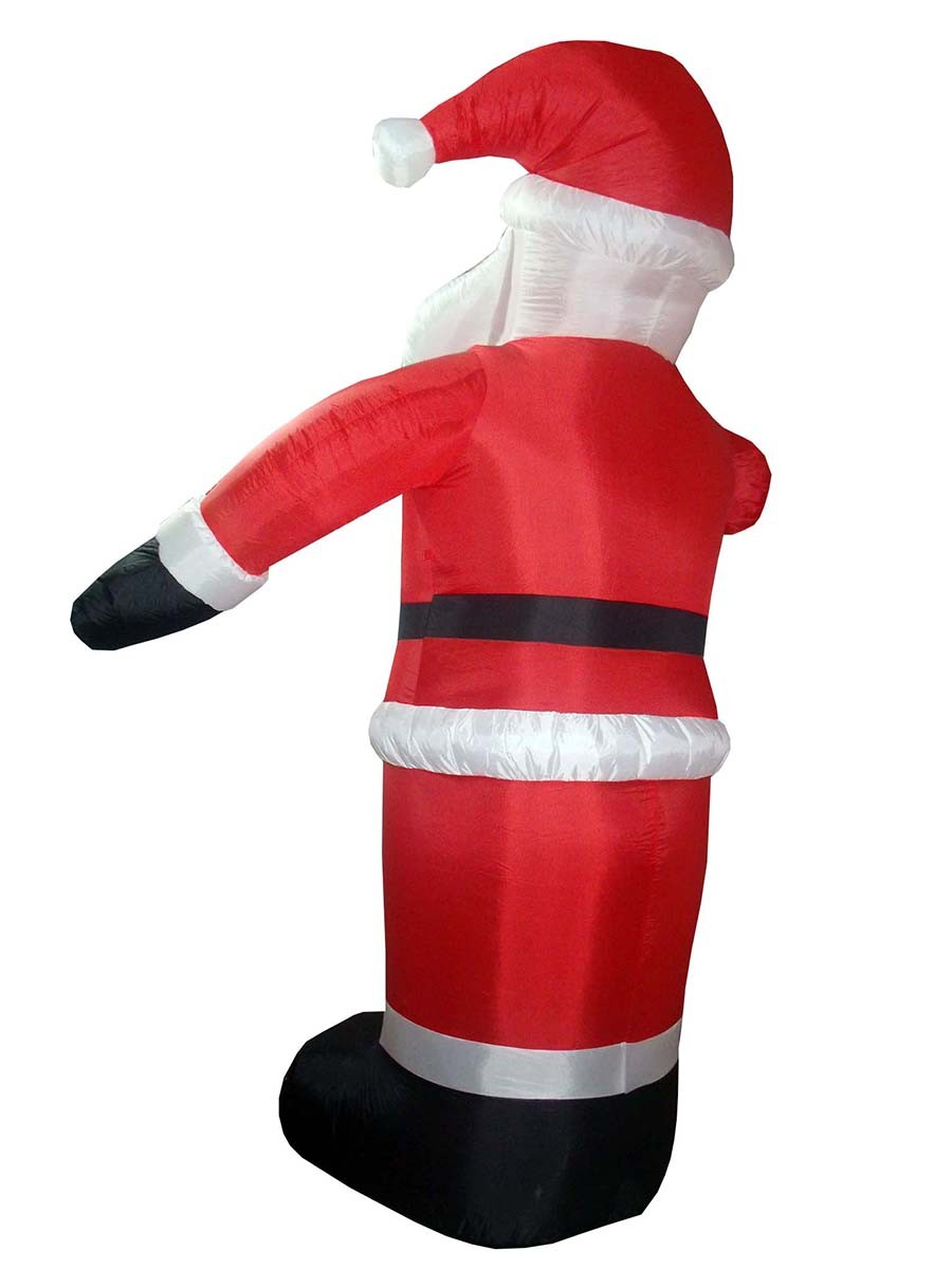Papai Noel Inflavel Natal Grande 2,40m Com Braco Sobe Desce Para Decoração Natalina Enfeite (bsl-36041-5)