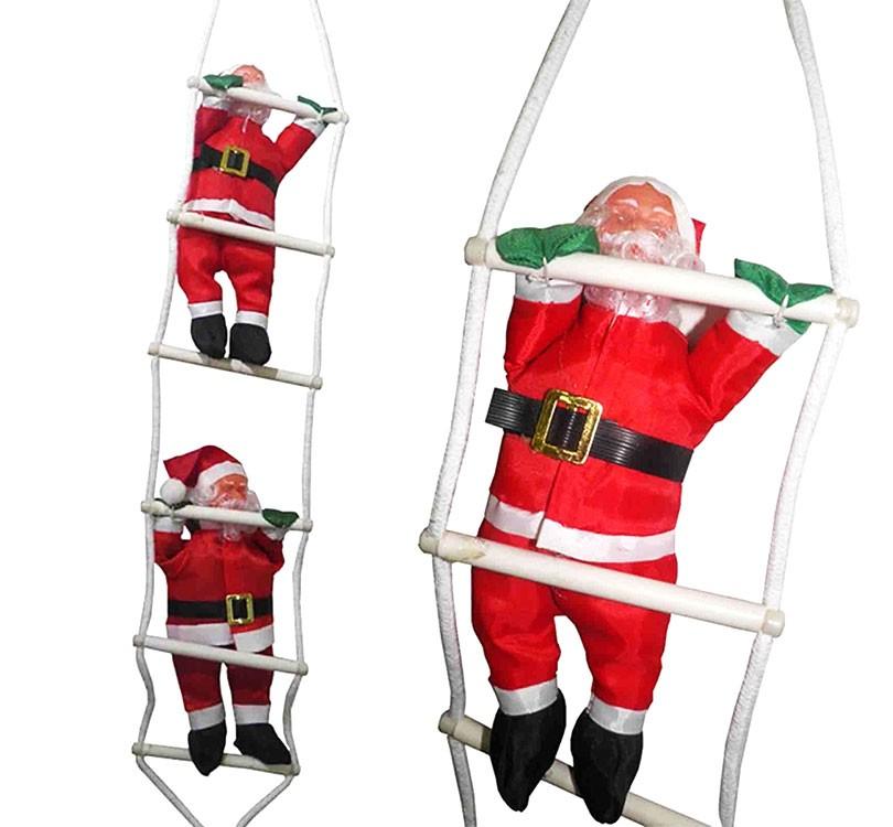Papai Noel na Escada 2 Bonecos Natal Enfeite Natalino Decoração (BSL-36041-10)