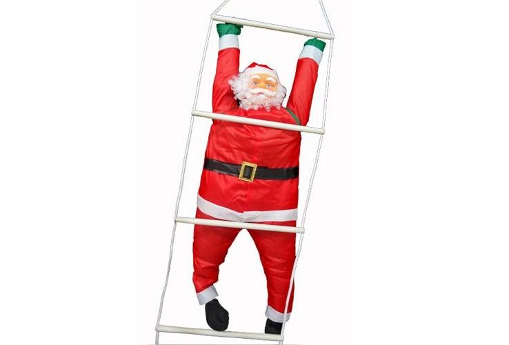 Papai Noel na Escada Enfeite Natalino Grande De Natal 1,23m (BSL-36041-13)