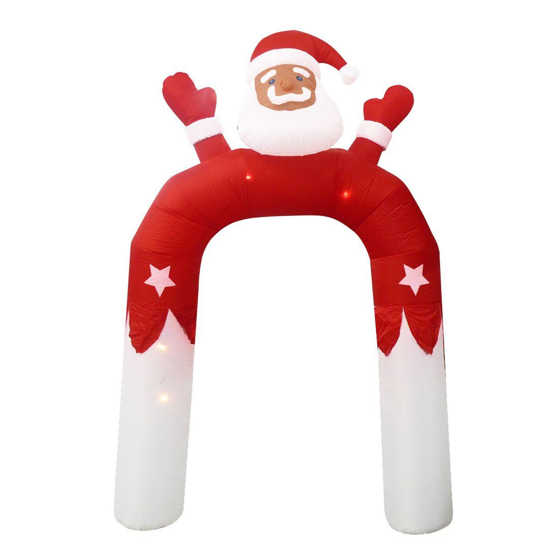 Papai Noel Natal Inflavel em Arco 3 metros e 15 cm Decoracao Natalino