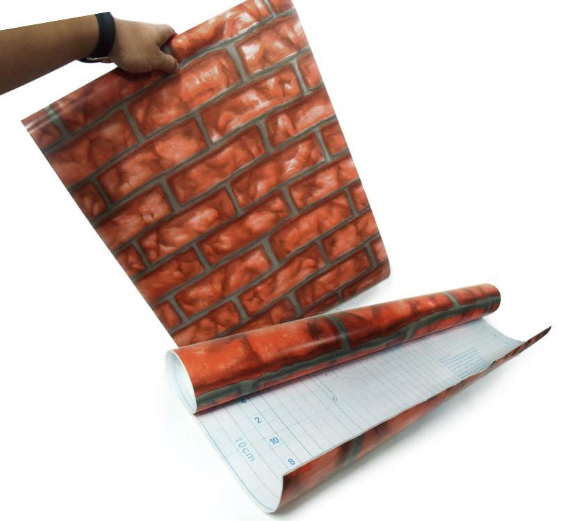 Papel de Parede Tijolos Adesivo Vinilico Lavavel Pedra Vermelho (bsl-42079-1-i)