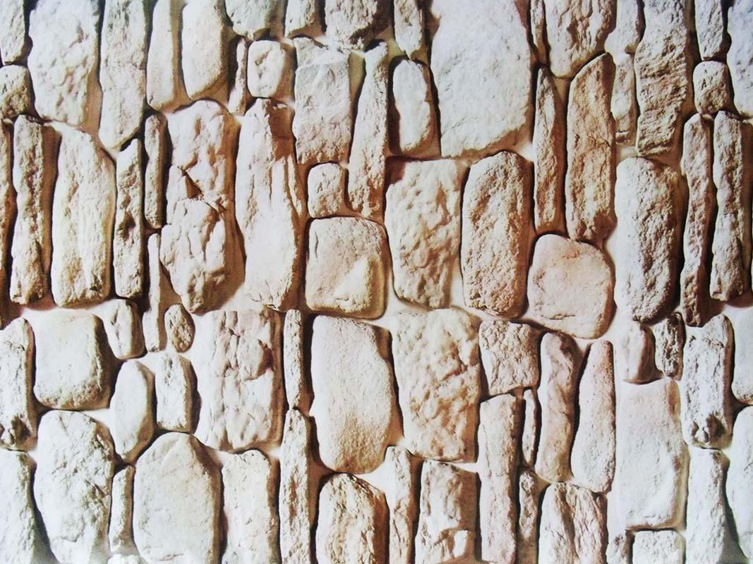 Papel de Parede Autoadesivo Vinilico Canjiquinha Pedra Rolo Lavavel Fosco Decorativo Marrom Claro