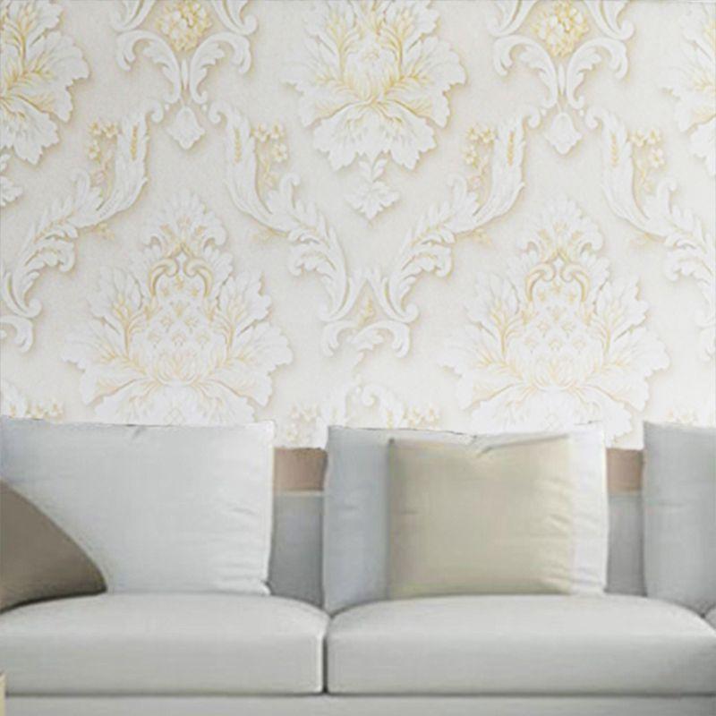 Papel De Parede Texturizado Luxo Lavavel 10 metros x 53cm Kit 4 Uni Casa Sala