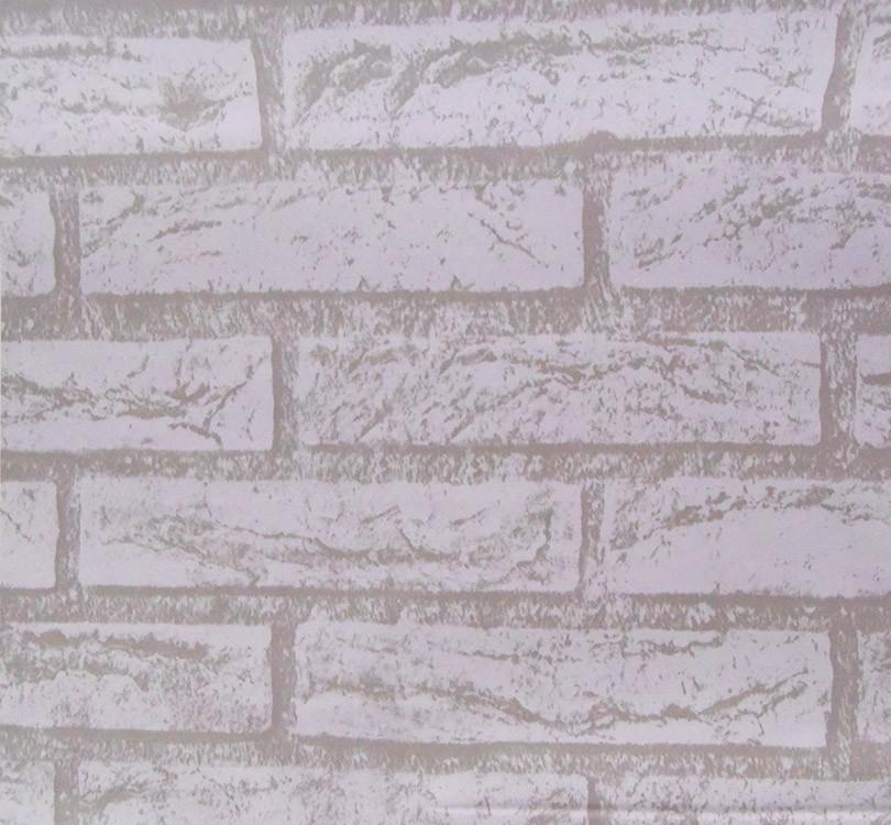 Papel de Parede Tijolo Pedra Branca Auto Adesivo Rustico Vinilico Lavavel (bsl-42079-1-B-1)