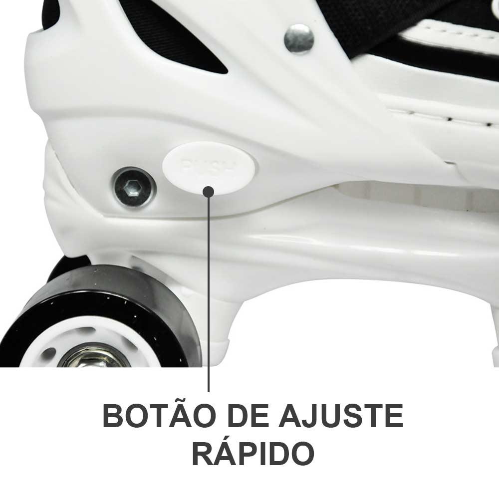 Patins 4 Rodas Retro All Style Ajustavel Classico 29 ao 32 Preto (DMR5163)