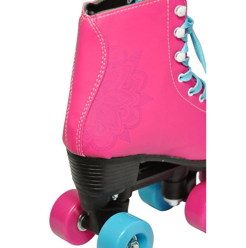 Patins Retro Roller 4 Rodas Quad Classico Tamanho 38 Feminino Rosa (DMR5166 / R38)