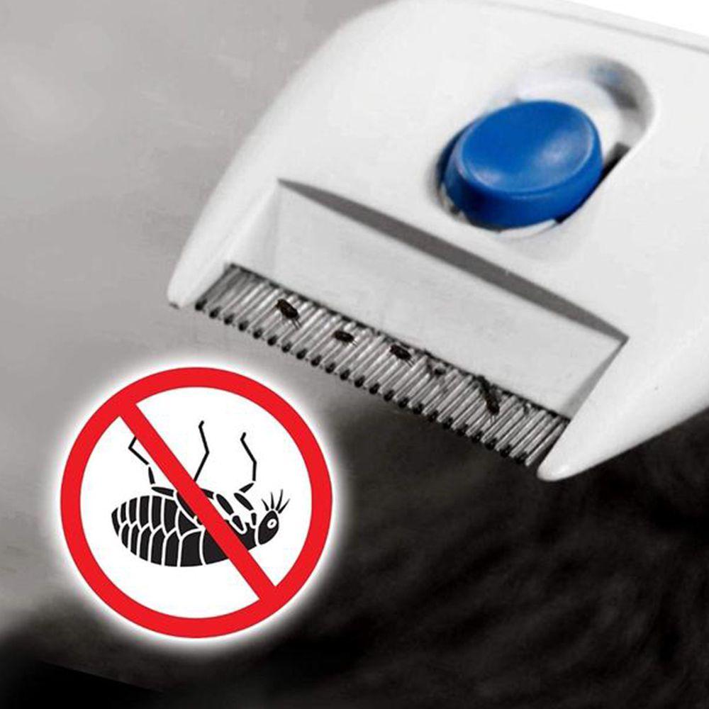 Pente Mata Pulgas Eletrico Remove Lendeas Piolho Pelos Cachorro Caes Pet Gatos