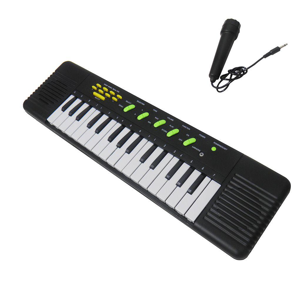 Piano Teclado Infantil Brinquedo Cantar Karaoke Crianca Microfone