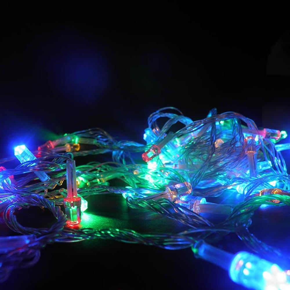 Pisca Pisca 100 LEDs Colorido 8 Funções Enfeite 9m Diamantes Natalino (JA80502)