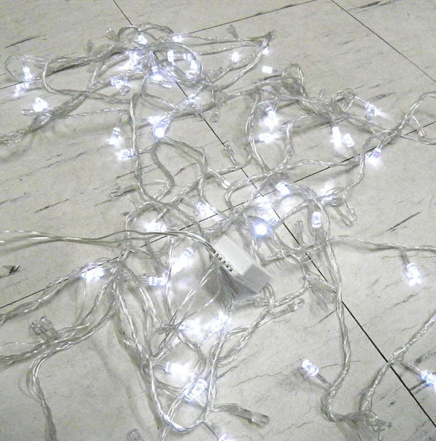 Pisca Pisca 100 LEDs De Natal Branco 9 Metros Enfeite 8 Funções Diamantes - 127 Volts (JA80502)