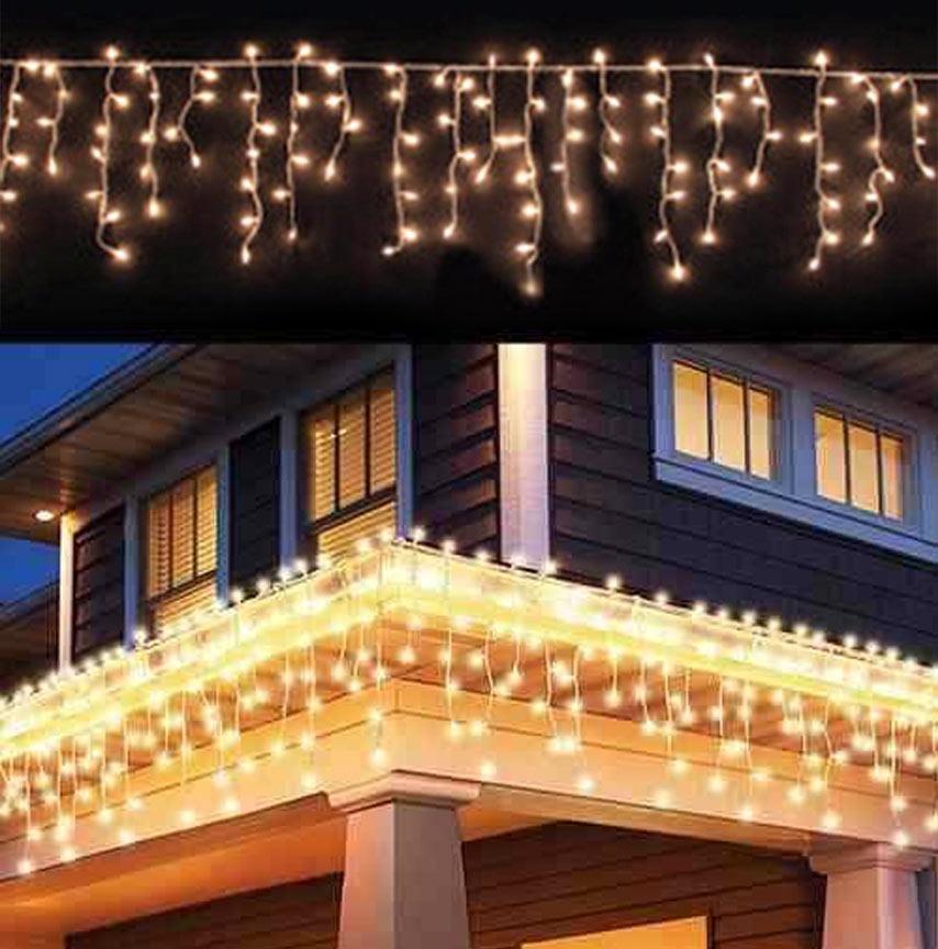 Pisca Pisca 200 Leds Cascata De Natal Enfeite Branco Quente Decoração (JA-81105 Branco quente)