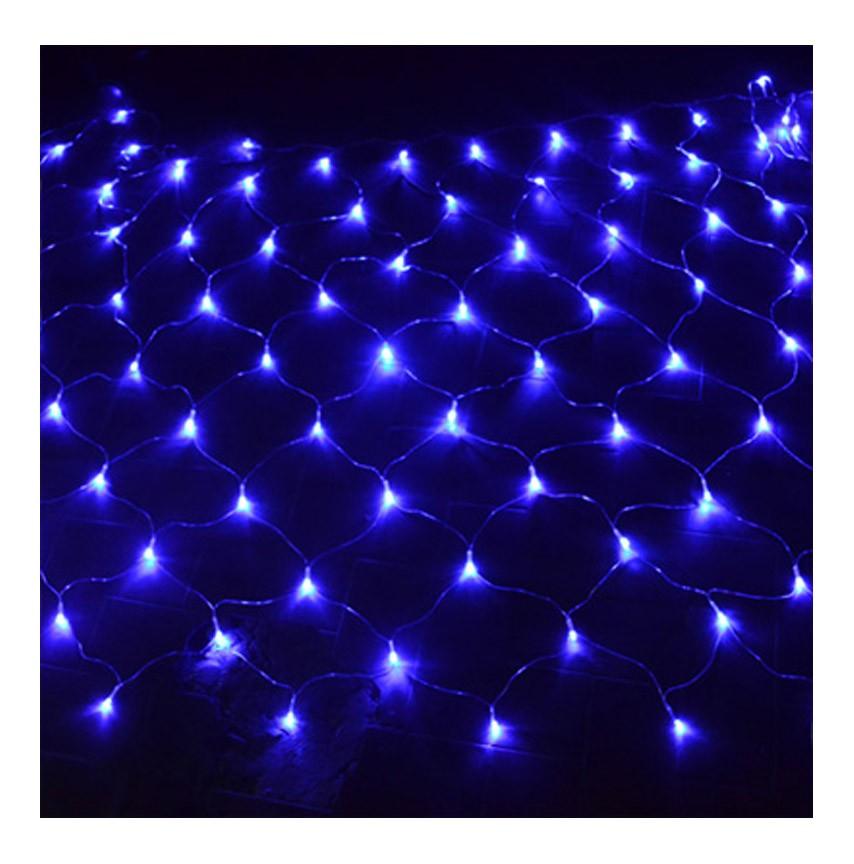 Pisca Pisca de Natal Rede Azul 120 Led's  Enfeite Natalino 8 Funções (JA-81115 azul)