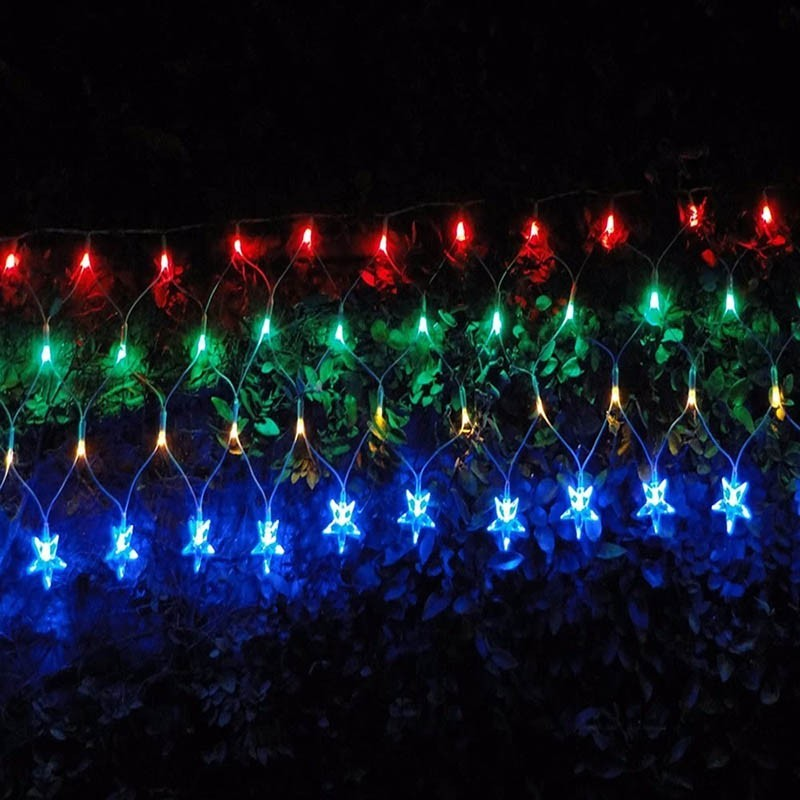 Pisca Pisca Led Cascata Estrela De Natal 120 Lampadas Enfeite 8 Funçao Colorido (JA80504 color)