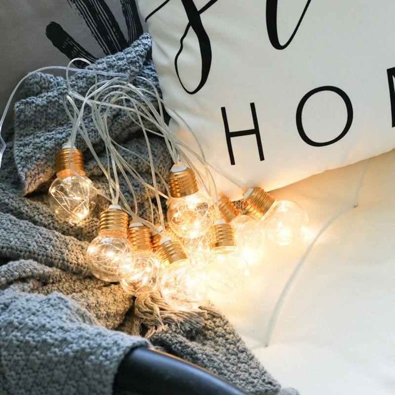 Pisca Pisca Led Lampada Bocal Natal Festa Natalino Usb Pilha 3 metros Branco Quente