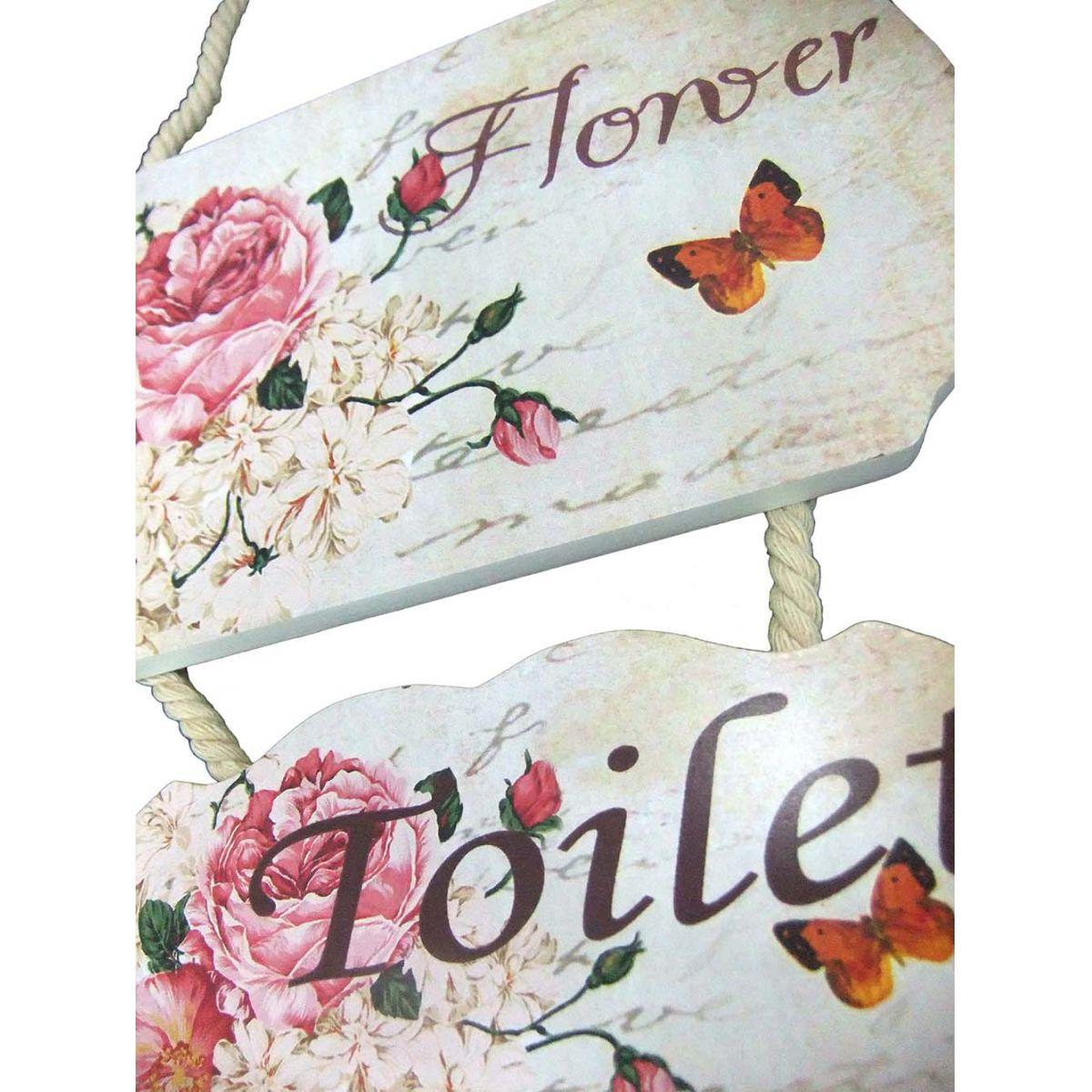 Placa Sanitario Banheiro Indica Enfeite Toilete Madeira Mulher (MAD-6702-15)