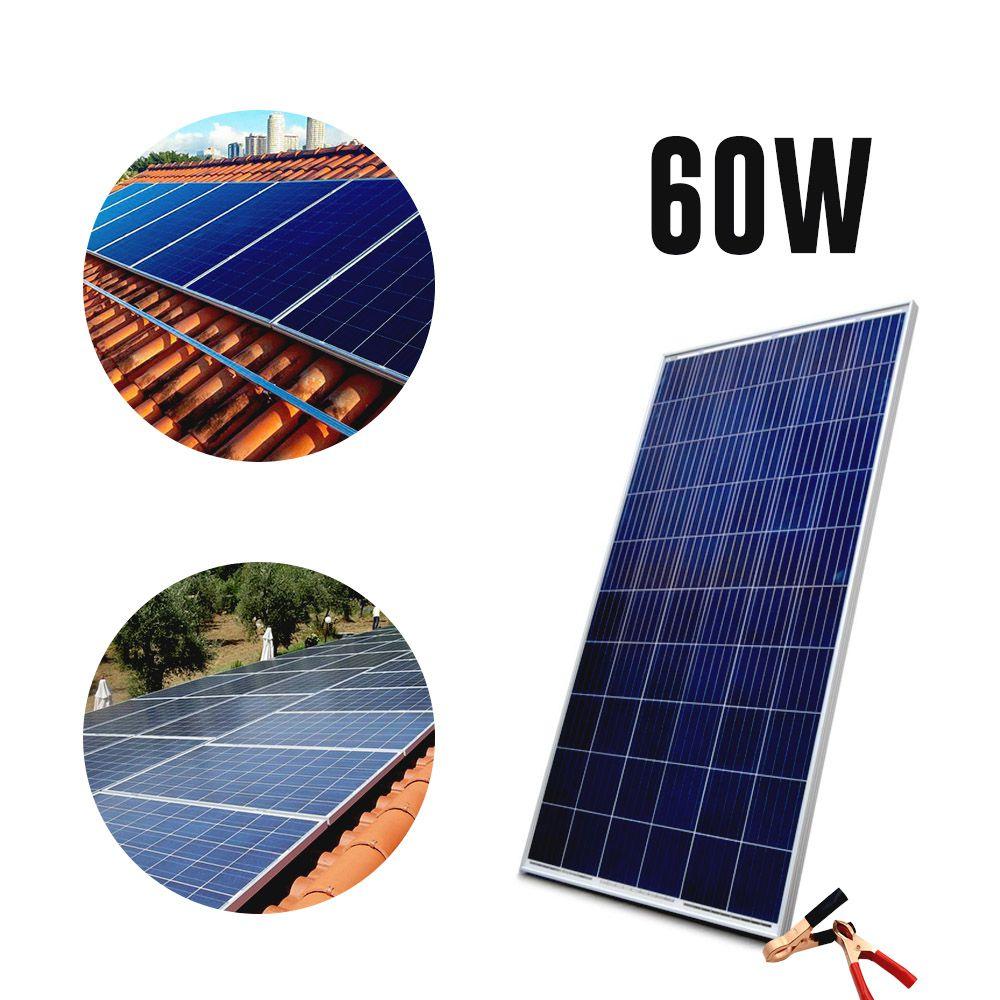 Placa Energia Solar Celulas Fotovoltaica Potencia 60w Painel