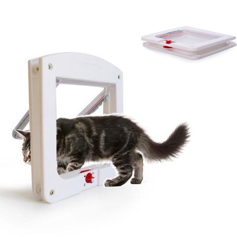 Porta De Passagem Portinha Pet P/ Gato Cachorro 4 Em 1 Animais Domesticos