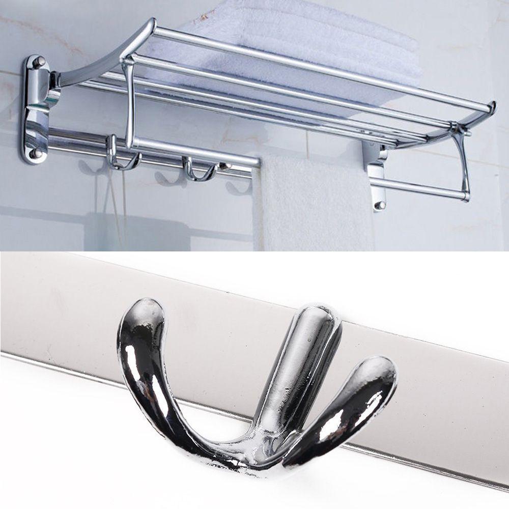Porta Toalha Retratil Toalheiro Luxo Cromado Pendurar Banheiro Casa Hotel Pousada