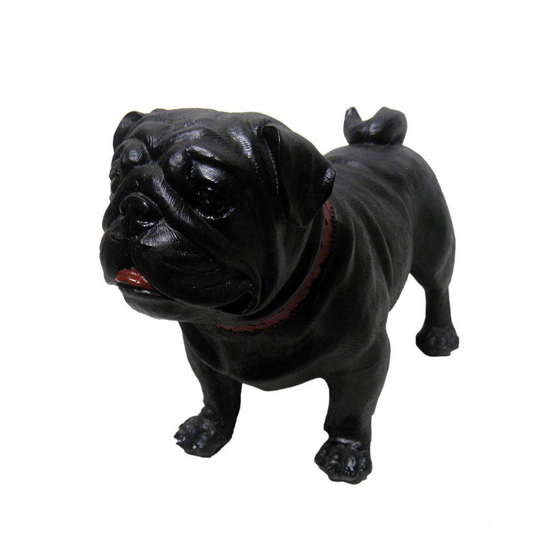 Pug Cachorro Decorativo Decoracao Cao Resina Jardim Casa