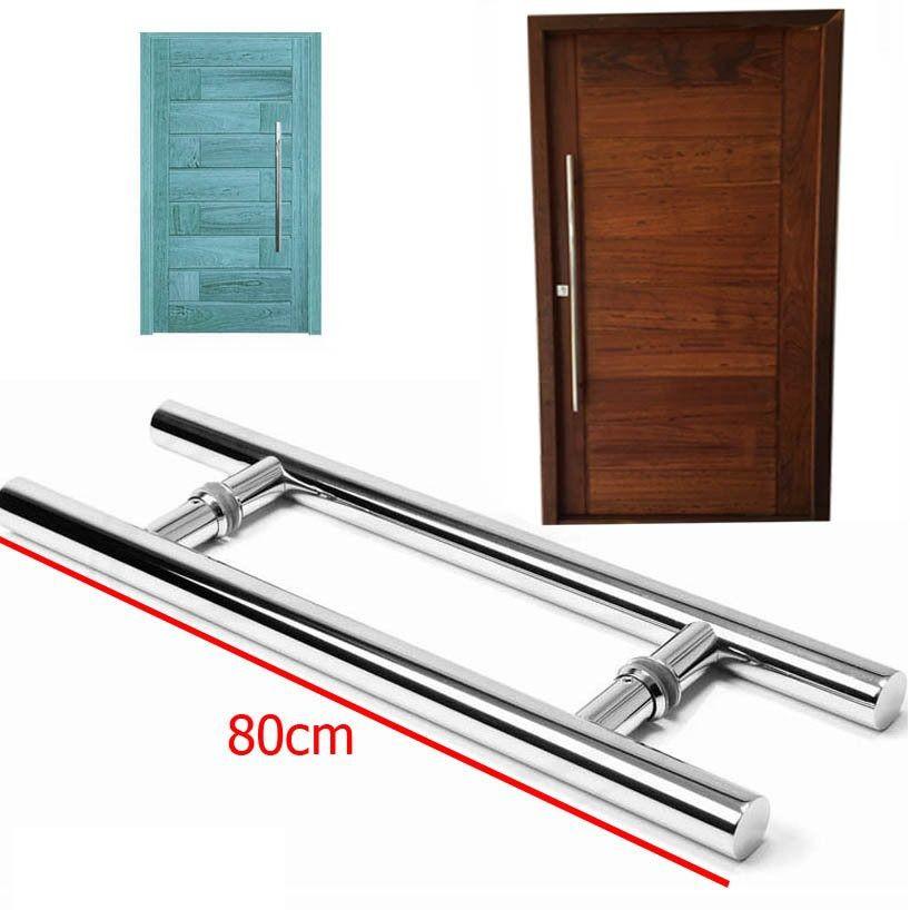 Puxador Para Porta Aco Inox 80cm Porta Pivotante Duplo Casa (BSL-PXD-2)
