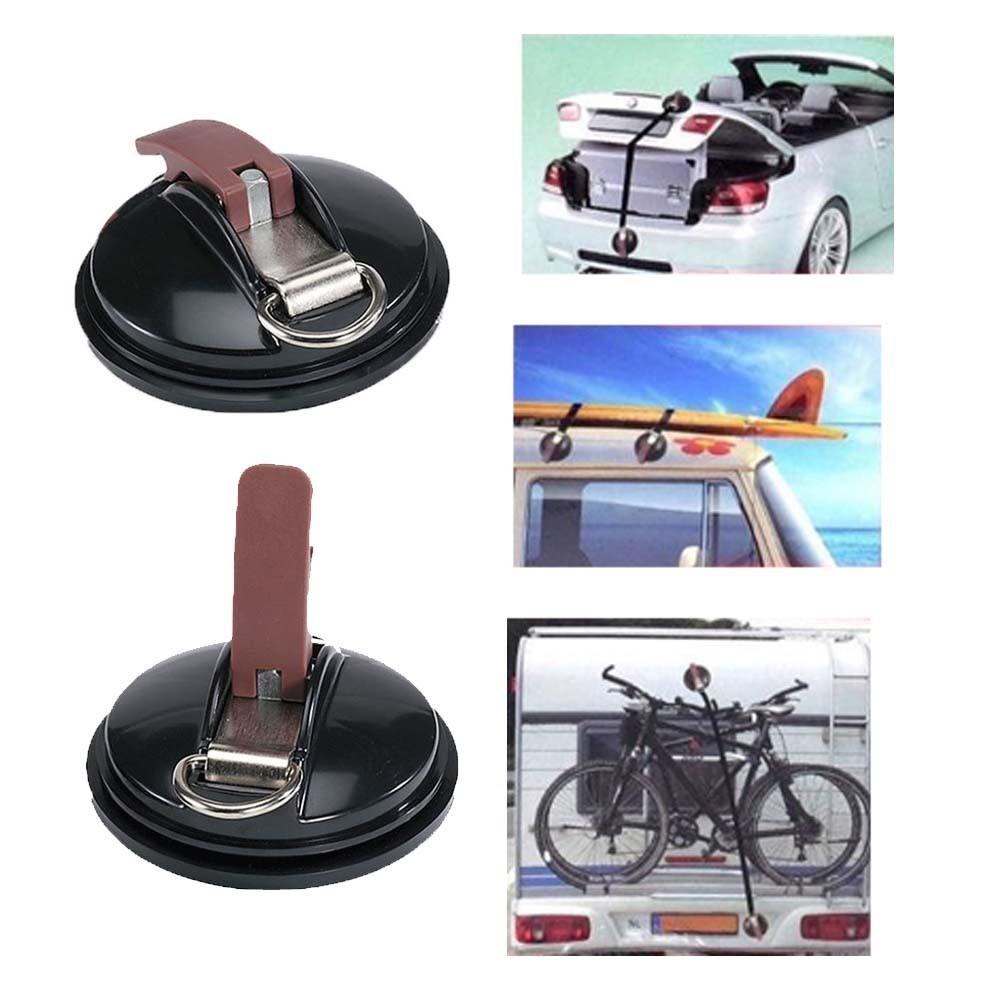 Rack Ventosa Para Carro Transporte Seguro de Carga Com Alça Carro Van Caminhão Viagem 2 Unid (BSL-23521-4)