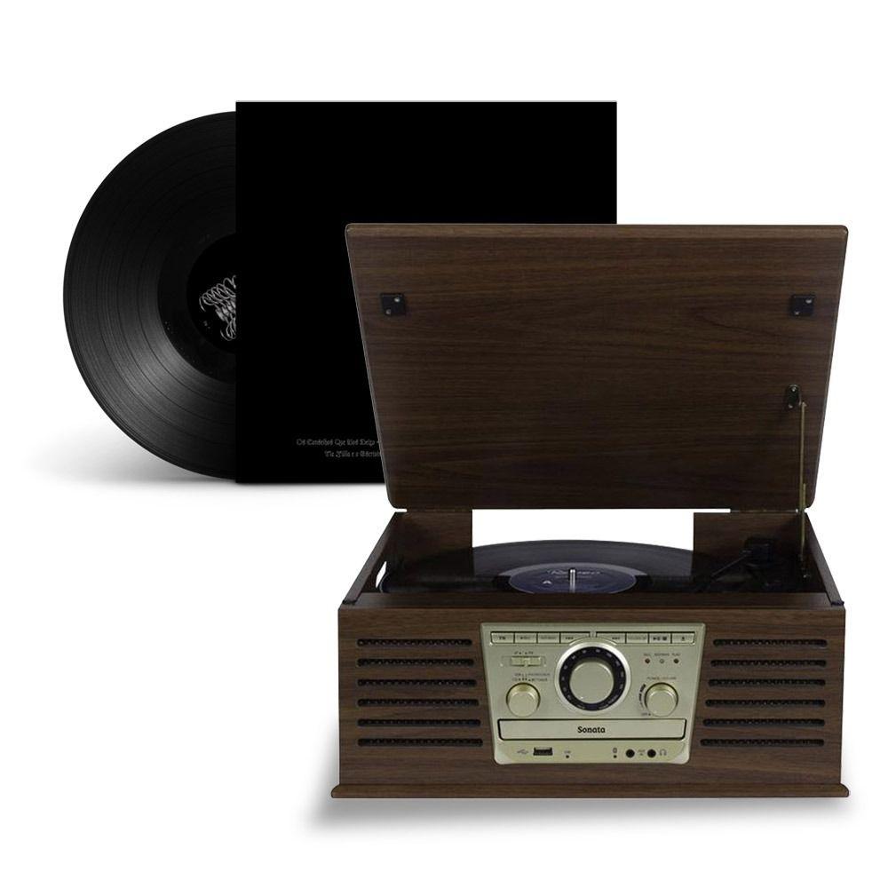 Radio Vintage Retro Bluetooth Toca Cd Discos Vinil Usb Fm