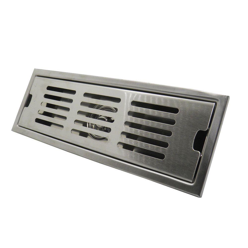 Ralo Grelha Linear Anti Insetos Metal 30x10 Banheiro
