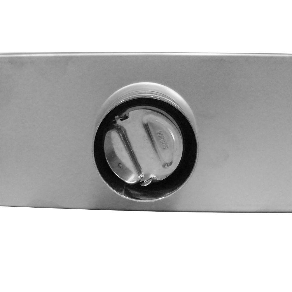 Ralo Invisivel Linear Anti Insetos Anti Odor 58x8 Tampa Aço Inoxidavel Escovado Banheiro