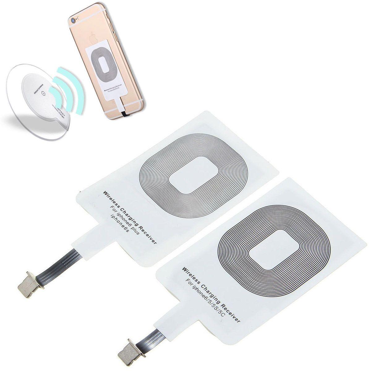 Adaptador Receptor Indução Sem Fio Celular Carregador Iphone