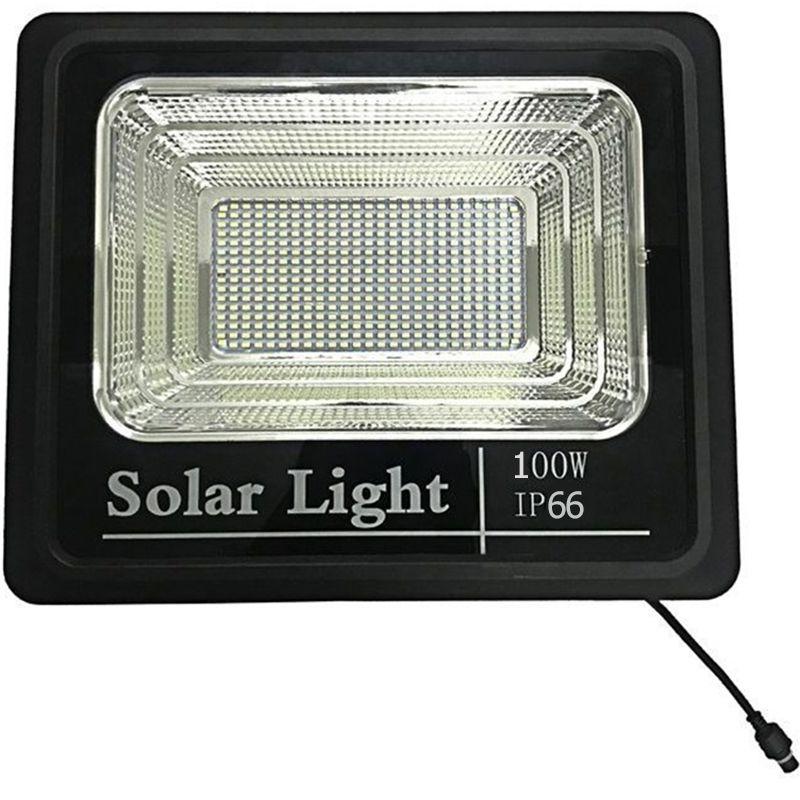 Refletor 100w Energia Solar Sensor kit Controle Remoto Holofote Led Iluminacao Luminária bateria