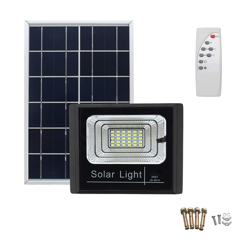 Refletor 200w Solar Sensor Led Iluminacao Holofote Energia Controle Remoto