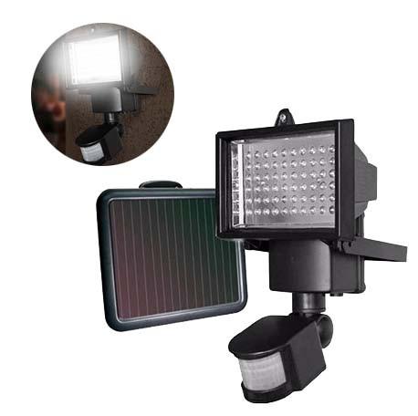 Refletor Solar De 60 Leds Com Sensor Movimento Holofote Iluminacao Residencial Segura  Com Painel Solar (BSL-HEL-6)