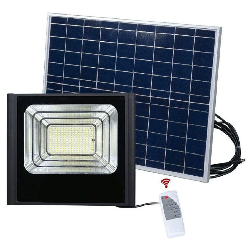 Refletor Solar Energia 40w Iluminacao Led Sensor kit Controle Remoto Holofote Luminária bateria