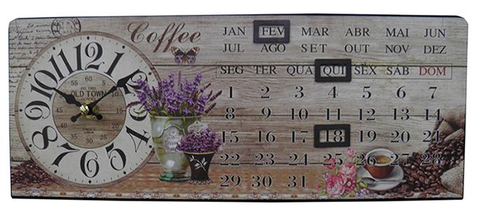 Relogio Calendario De Mesa Old Town Vintage Retro Decoracao (XIN-06)