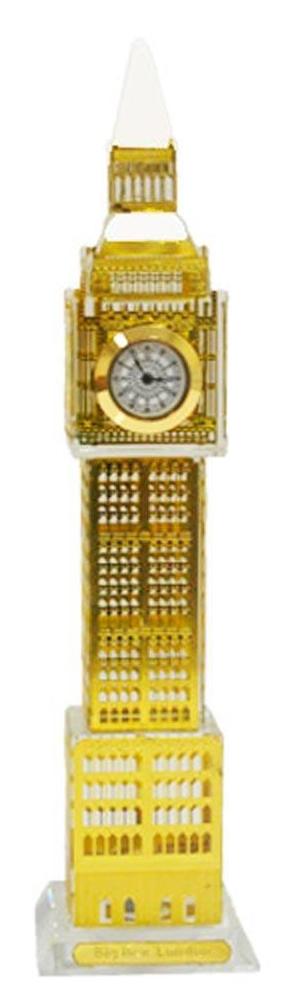 Relogio De Mesa Big Ben Londres De vidro com led Decorativo Cor Dourado (LON-1 A)