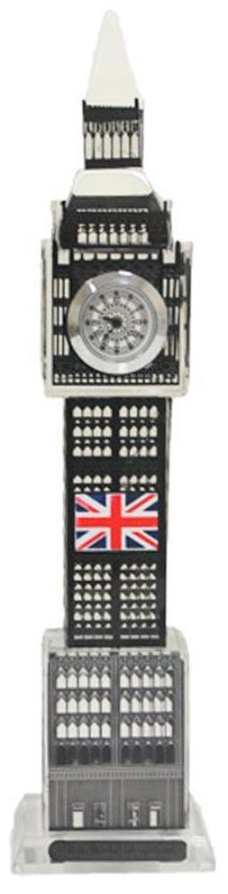 Relogio De Mesa Big Ben Londres De vidro com led Decorativo Cor Preto (LON-1 B)
