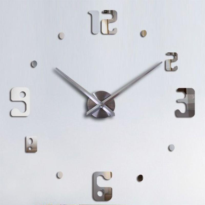 Relógio de Parede 3D Grande Escritório Casa Sala Decoração