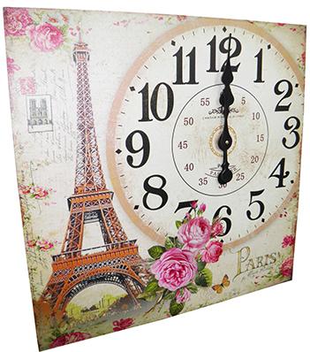 Relogio De Parede Grande Vintage Retro Decoracao Torre Eiffel (XIN-05)