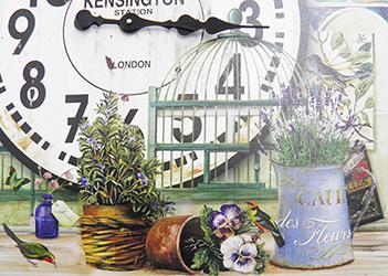 Relogio De Parede Grande Vintage Retro Decoracao Vasos de Plantas (XIN-05)