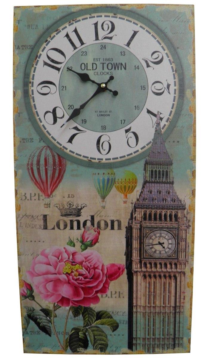 Relogio De Parede Londres Vintage Retro Para Decoracao (XIN-04)