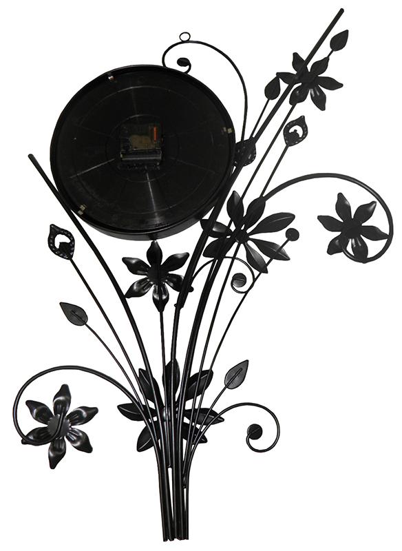 Relogio De Parede Para Decoracao Vintage Retro Flores (REL-43)