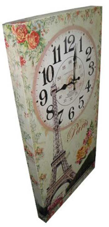 Relogio De Parede Paris Vintage Retro Para Decoracao (XIN-04)