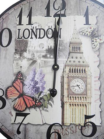 Relogio De Parede Redondo Grande Vintage Retro Decoracao Big Ben Londres