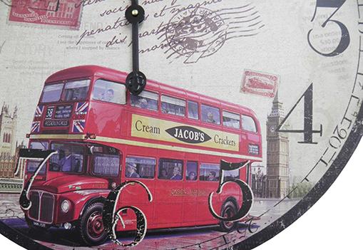 Relogio De Parede Redondo Grande Vintage Retro Decoracao Onibus Inglaterra (XIN-02)