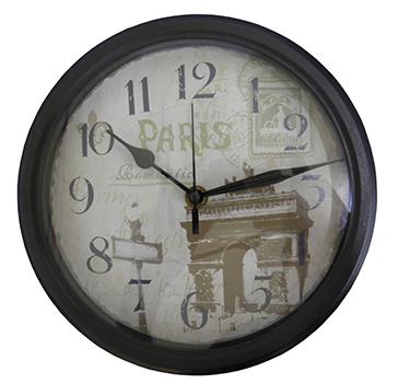 Relogio De Parede Vintage Retro Paris para Decoracao (REL-48)
