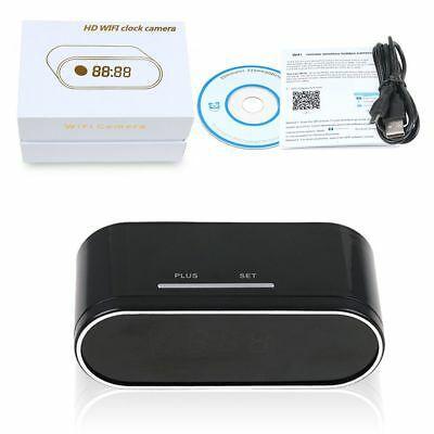 Relógio Espião Com Câmera HD WiFi Despertador 1080P Alarme SD Card