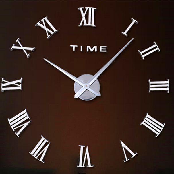 Relógio Grande 3D Parede Romanos Sala Escritório Casa Decoração
