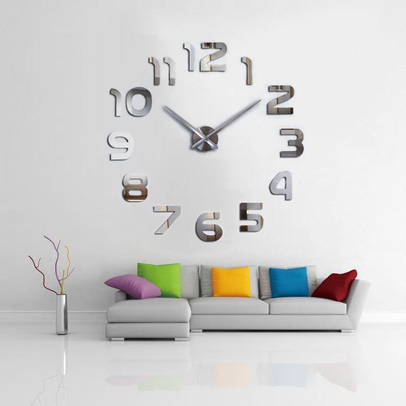 Relógio Grande 3D Parede Sala Escritório Casa Decorativo