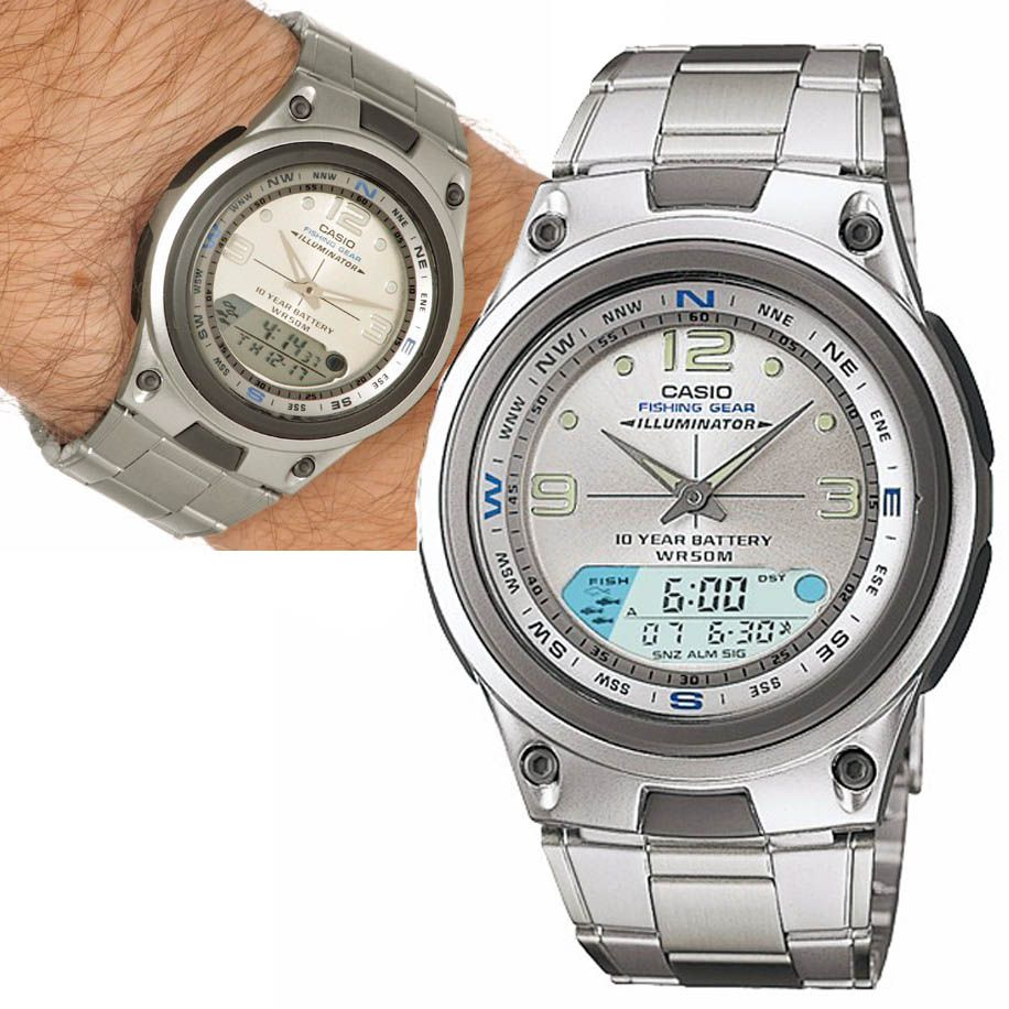 Relogio Masculino Digital Analogico Pesca Prova Dagua Casio Cronometro Alarme Lunar Calendario (aw-82d-7avdf-br)